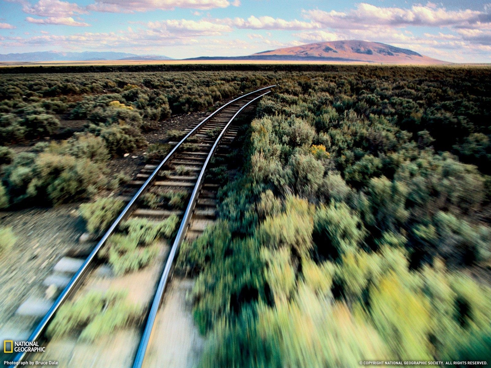 national geographic railroad tracks HD Wallpaper