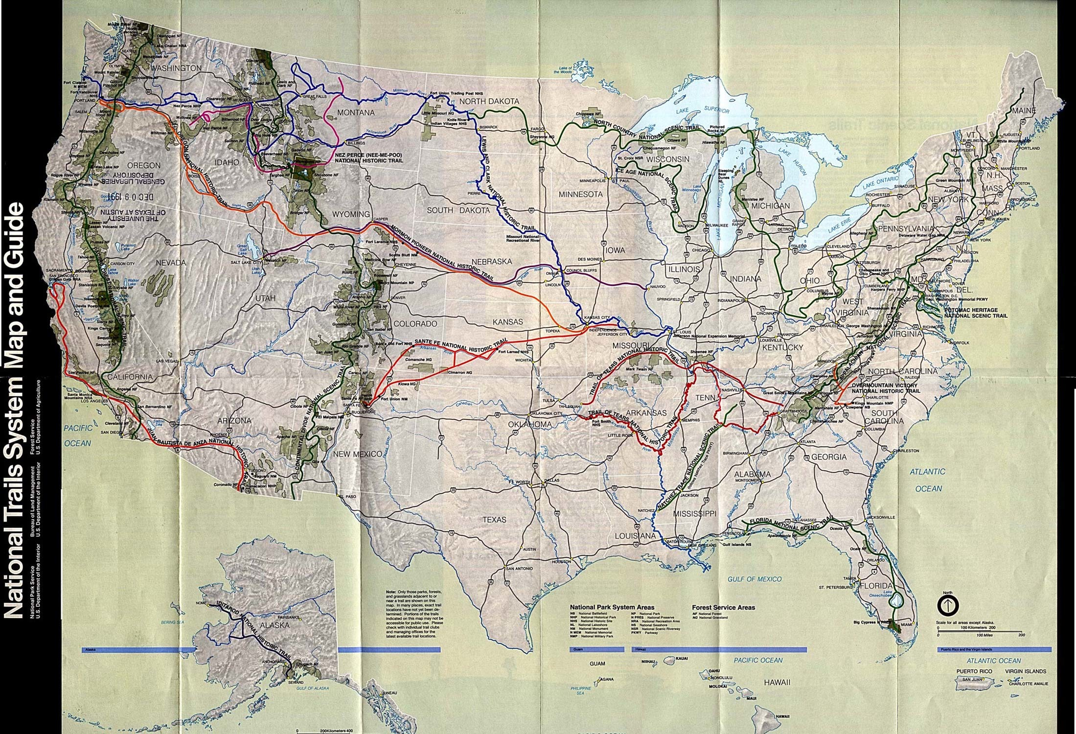 National Parks Trails Map HD Wallpaper