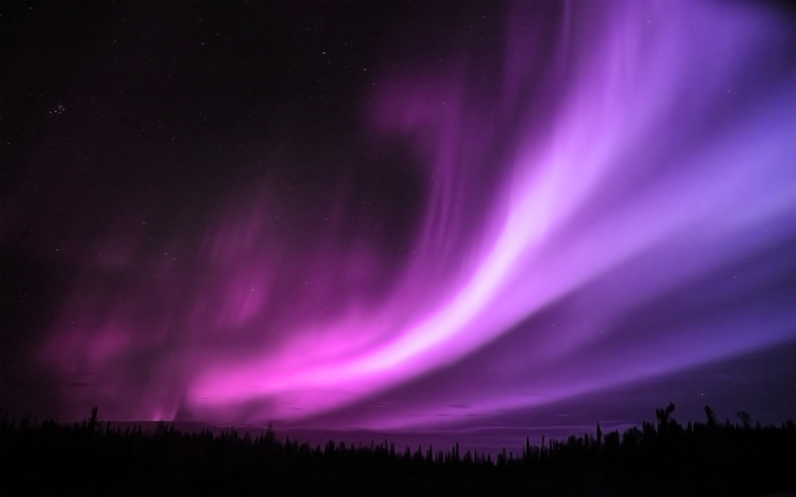nature aurora borealis purple HD Wallpaper