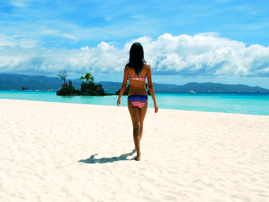 nature boracay beach HD Wallpaper