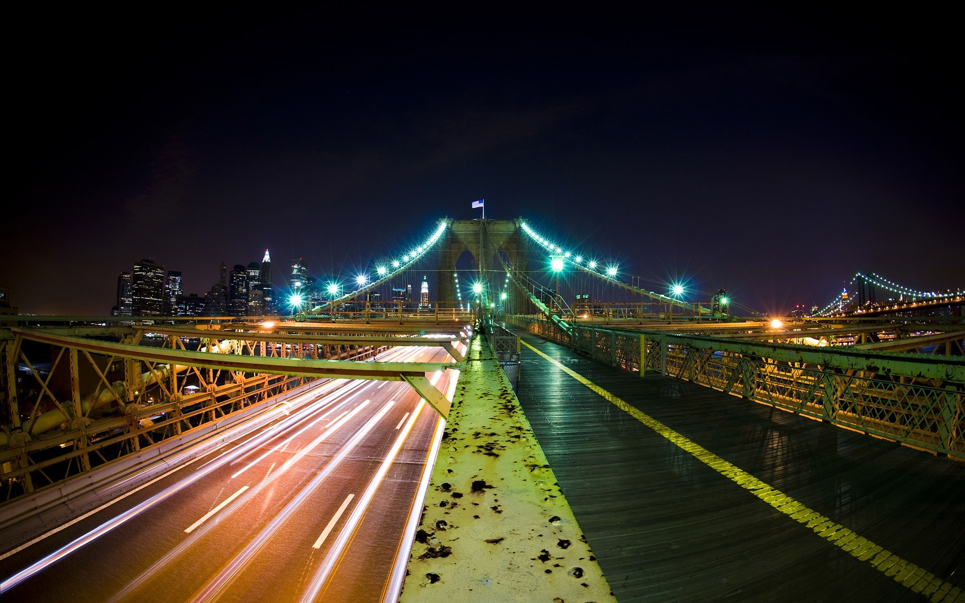 night Brooklyn Bridge New HD Wallpaper