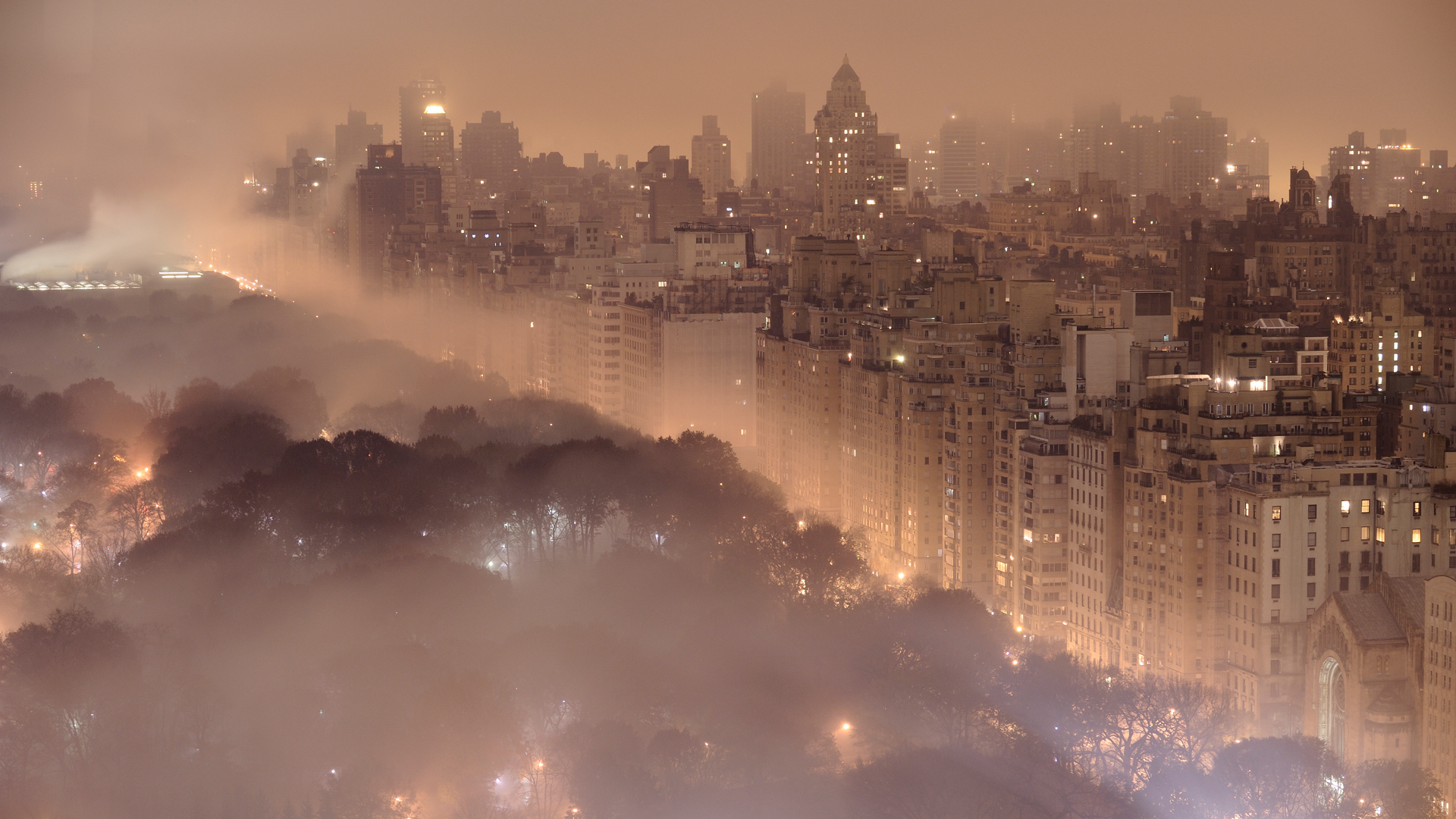 night fog new york HD Wallpaper