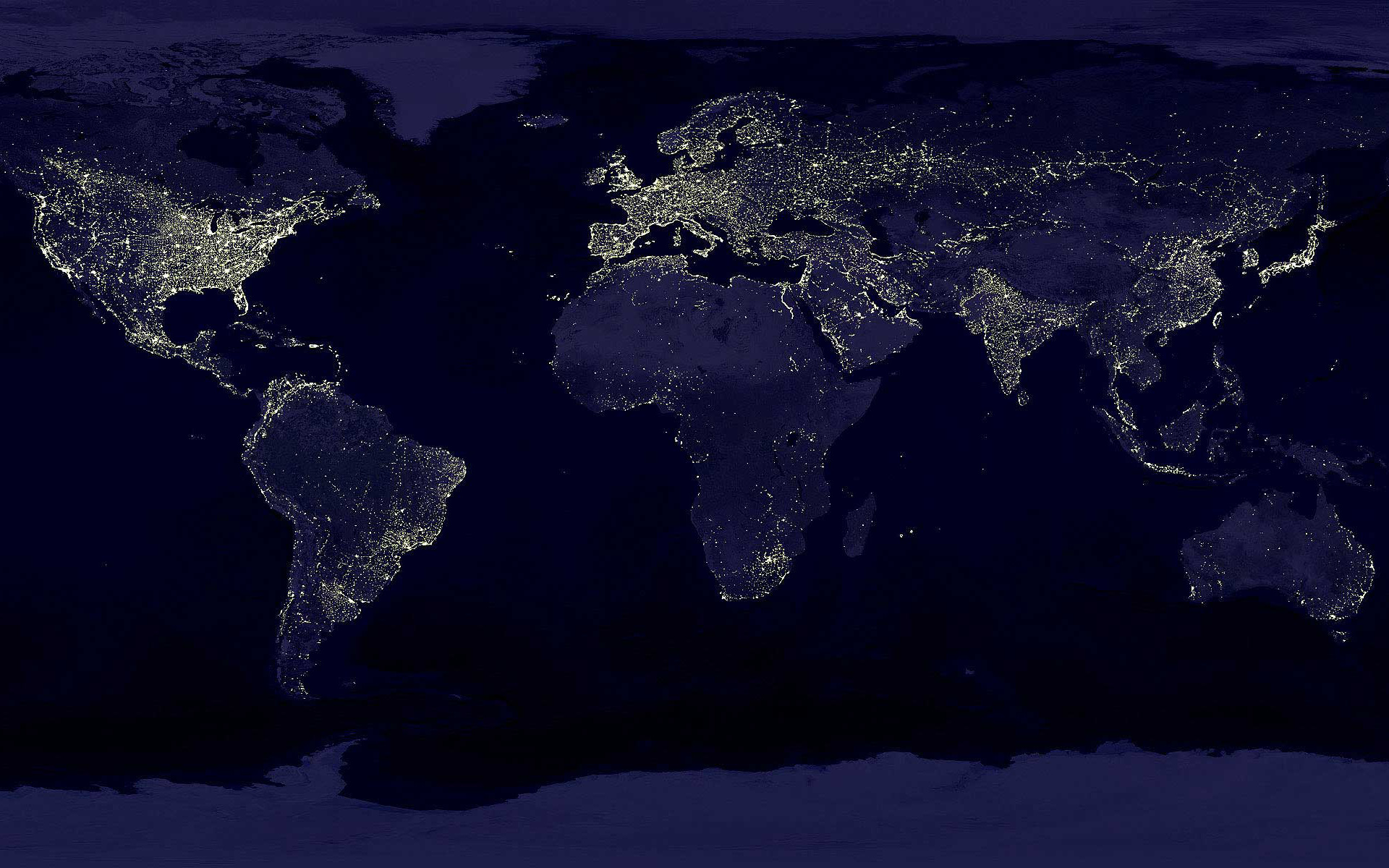 night lights Earth Maps HD Wallpaper