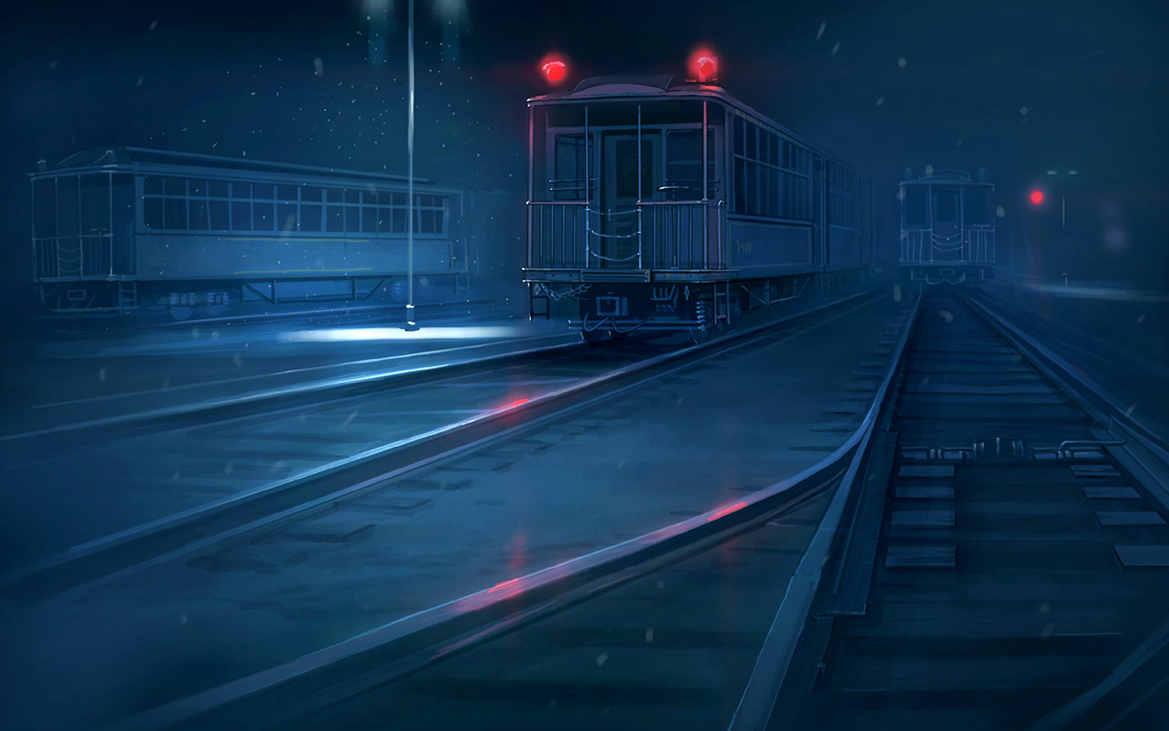 night trains makoto shinkai HD Wallpaper