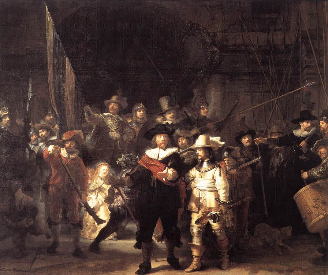 Night watch rembrandt HD Wallpaper