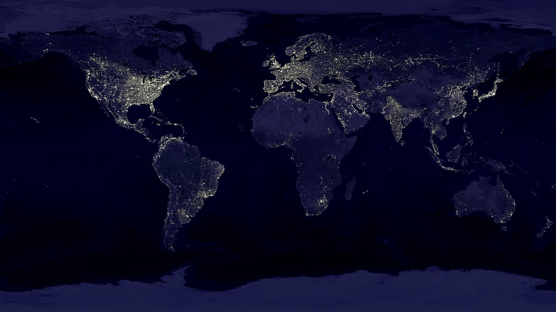 night worldmap continents Oceans