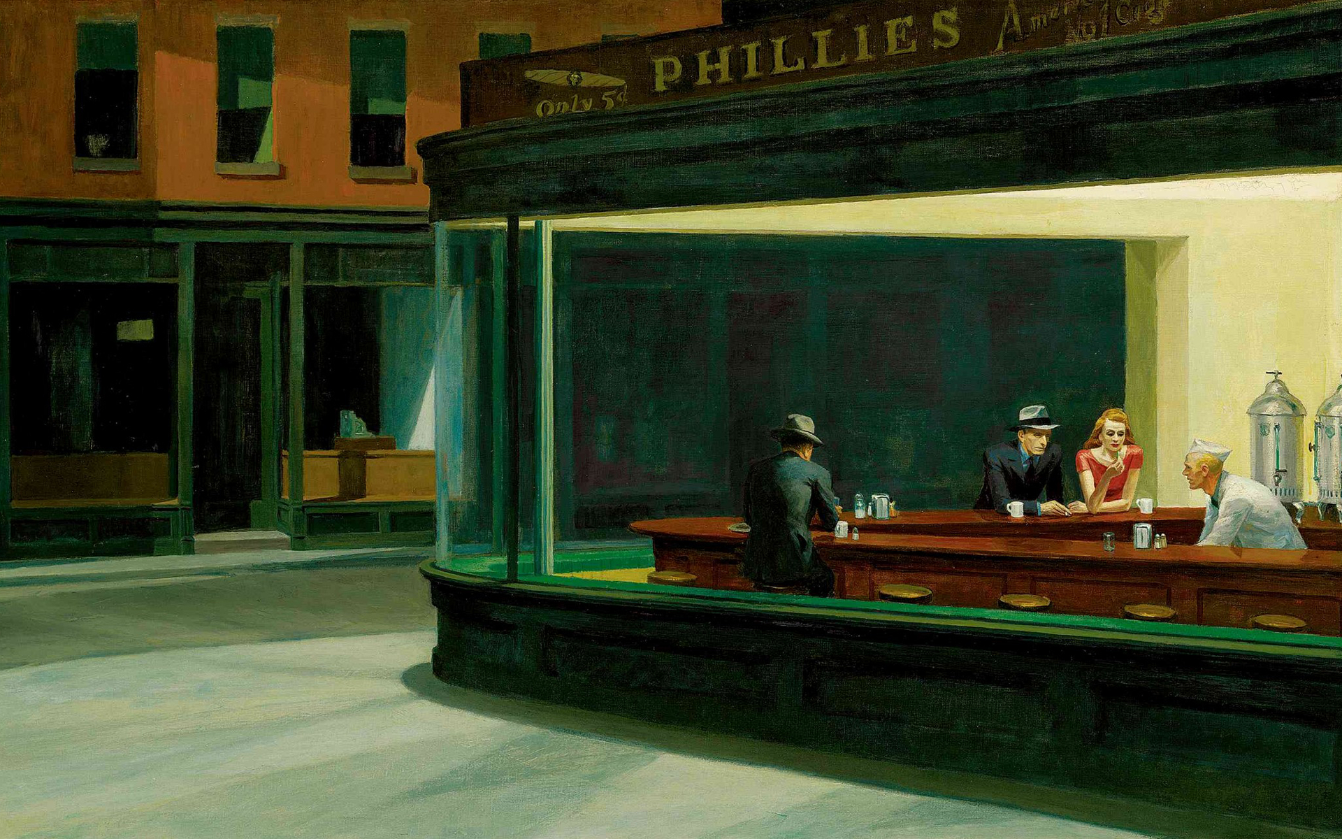 nighthawks at The diner HD Wallpaper