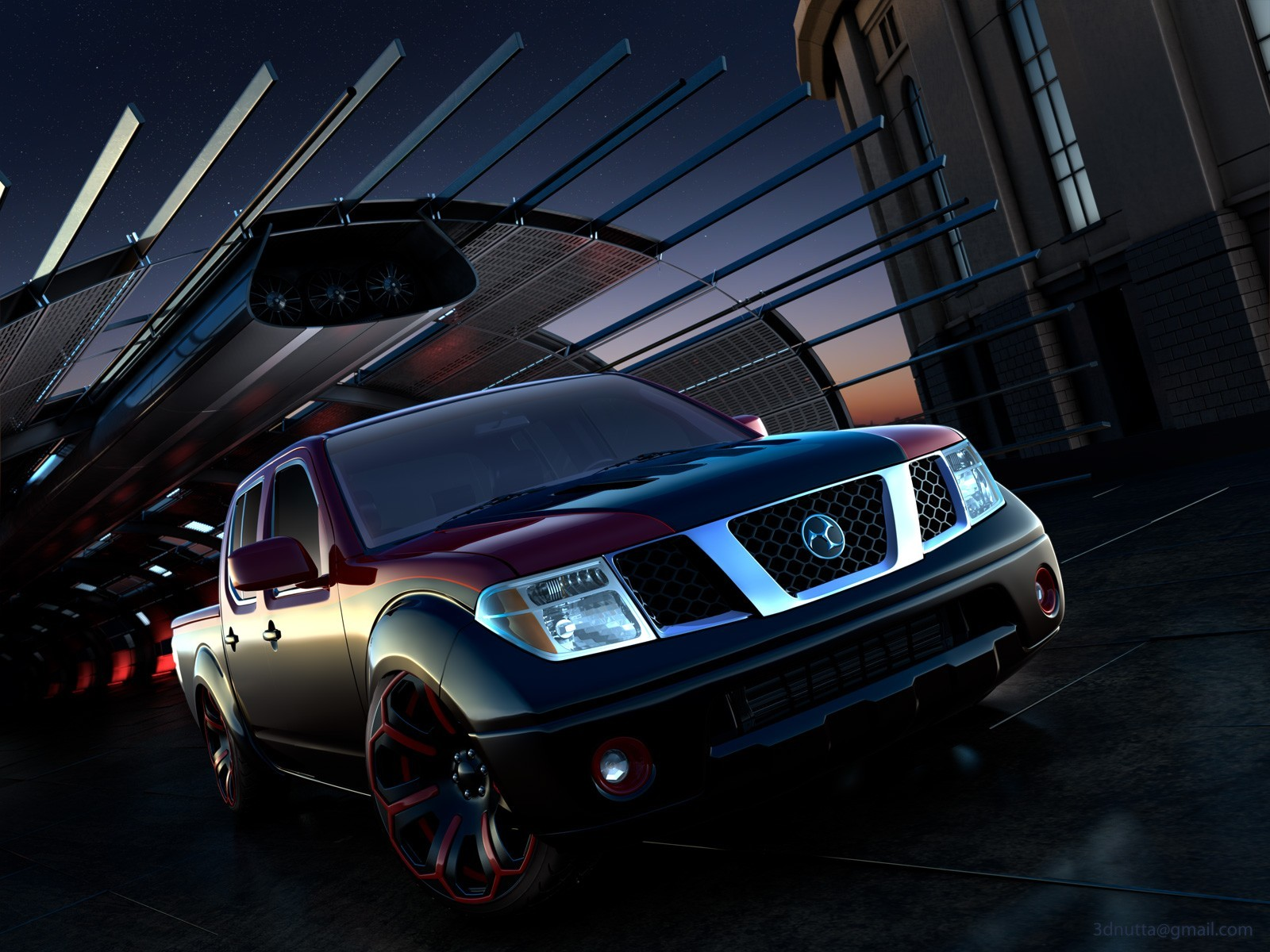 Nissan digital art tuning HD Wallpaper