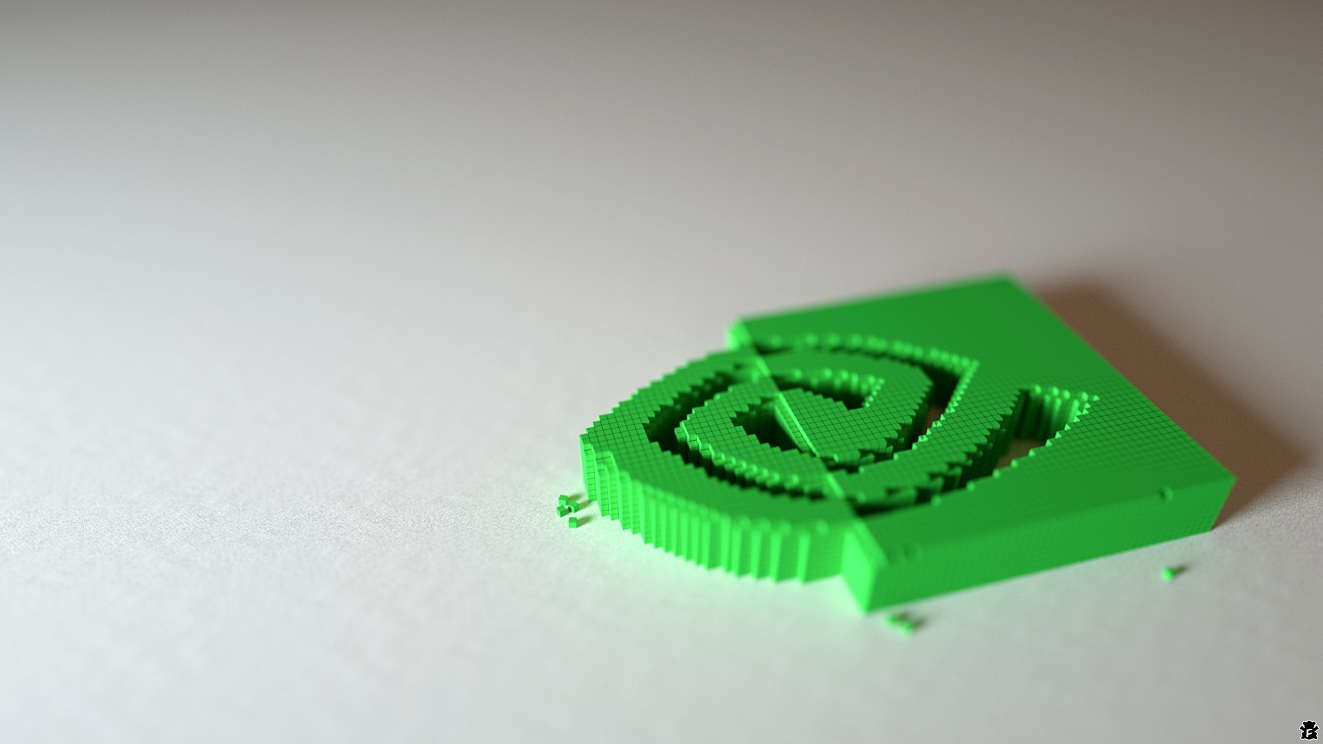 nvidia Pixels logos 3d HD Wallpaper