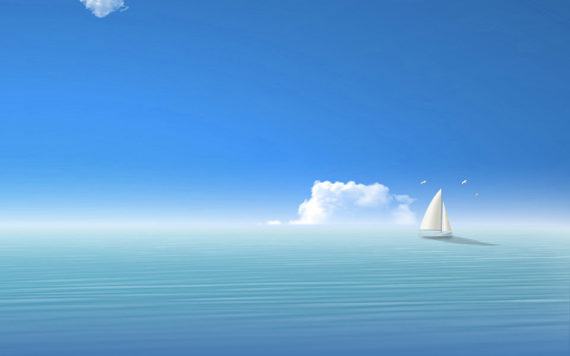 ocean clouds sail nature HD Wallpaper