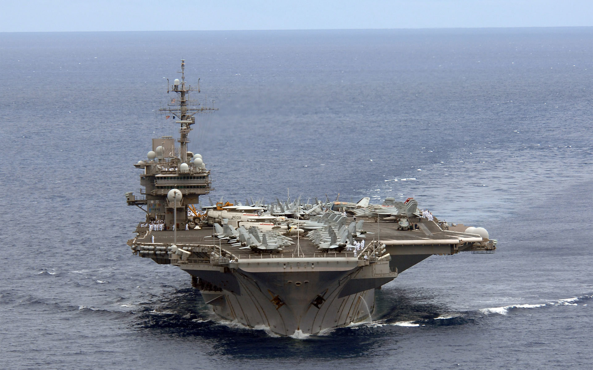 ocean ships aircraft carriers. HD Wallpaper
