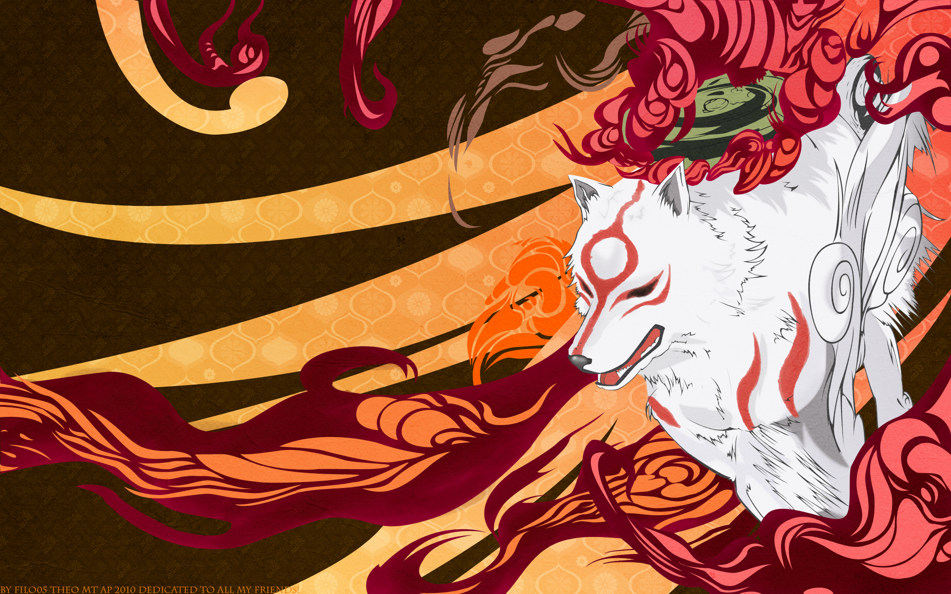 Okami colours wolf Anime HD Wallpaper