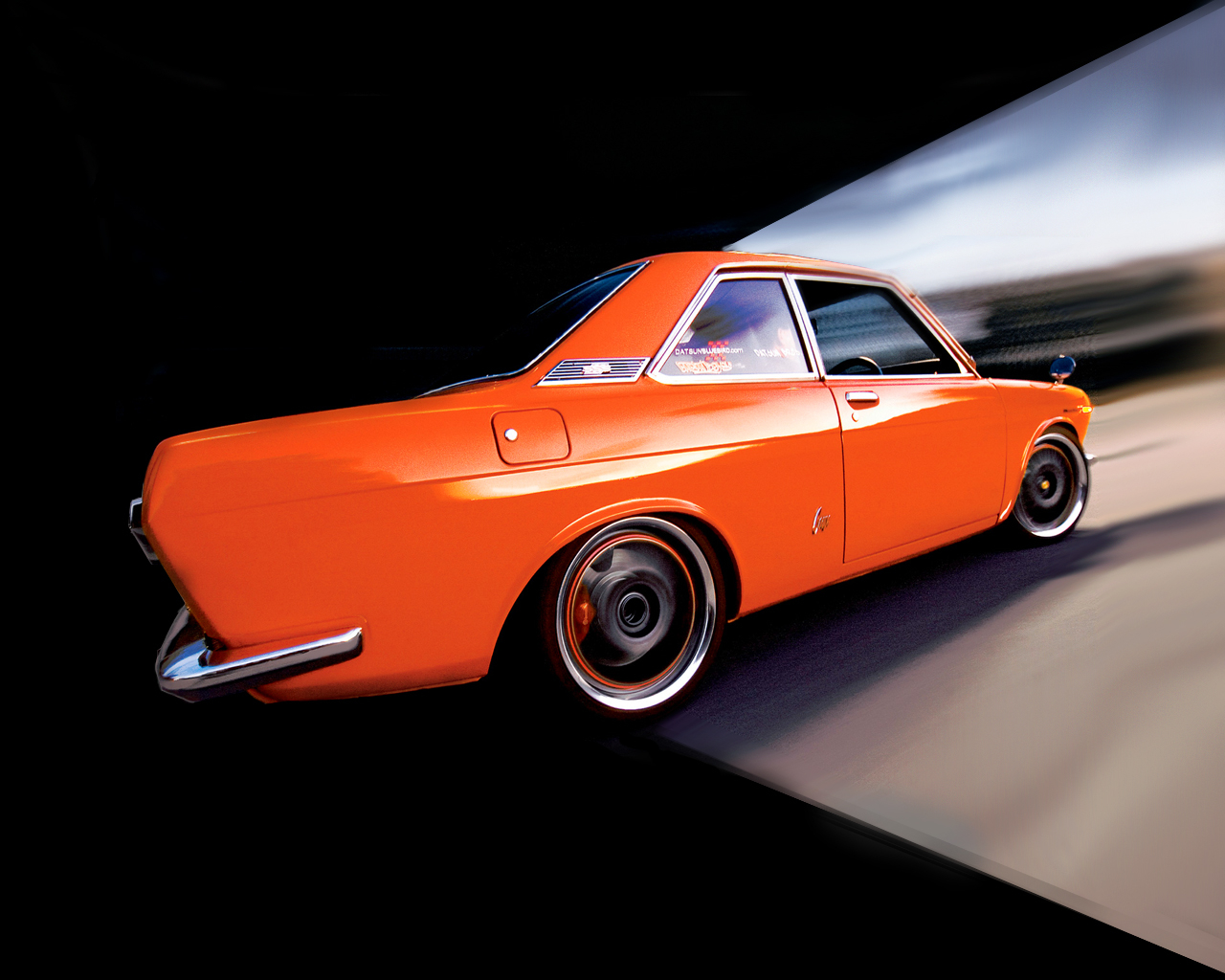 old cars orange vehicles HD Wallpaper