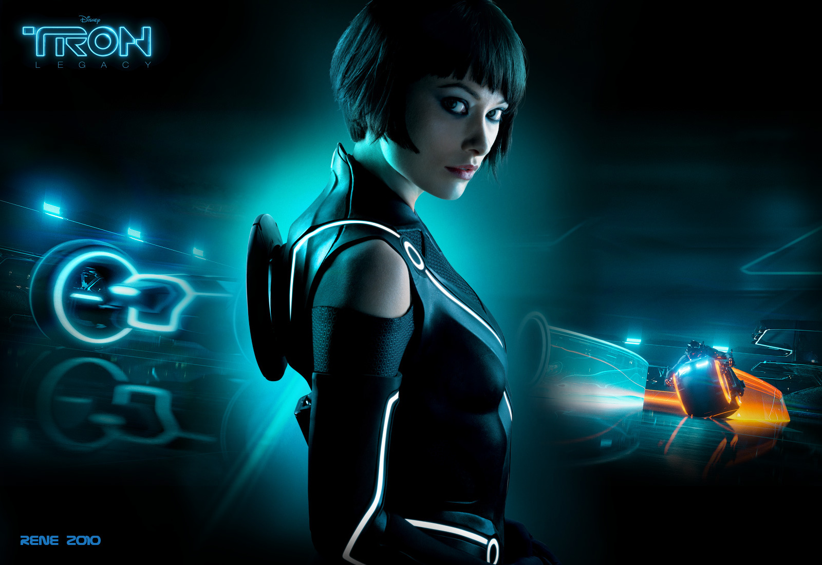 olivia Wilde Tron Quorra HD Wallpaper