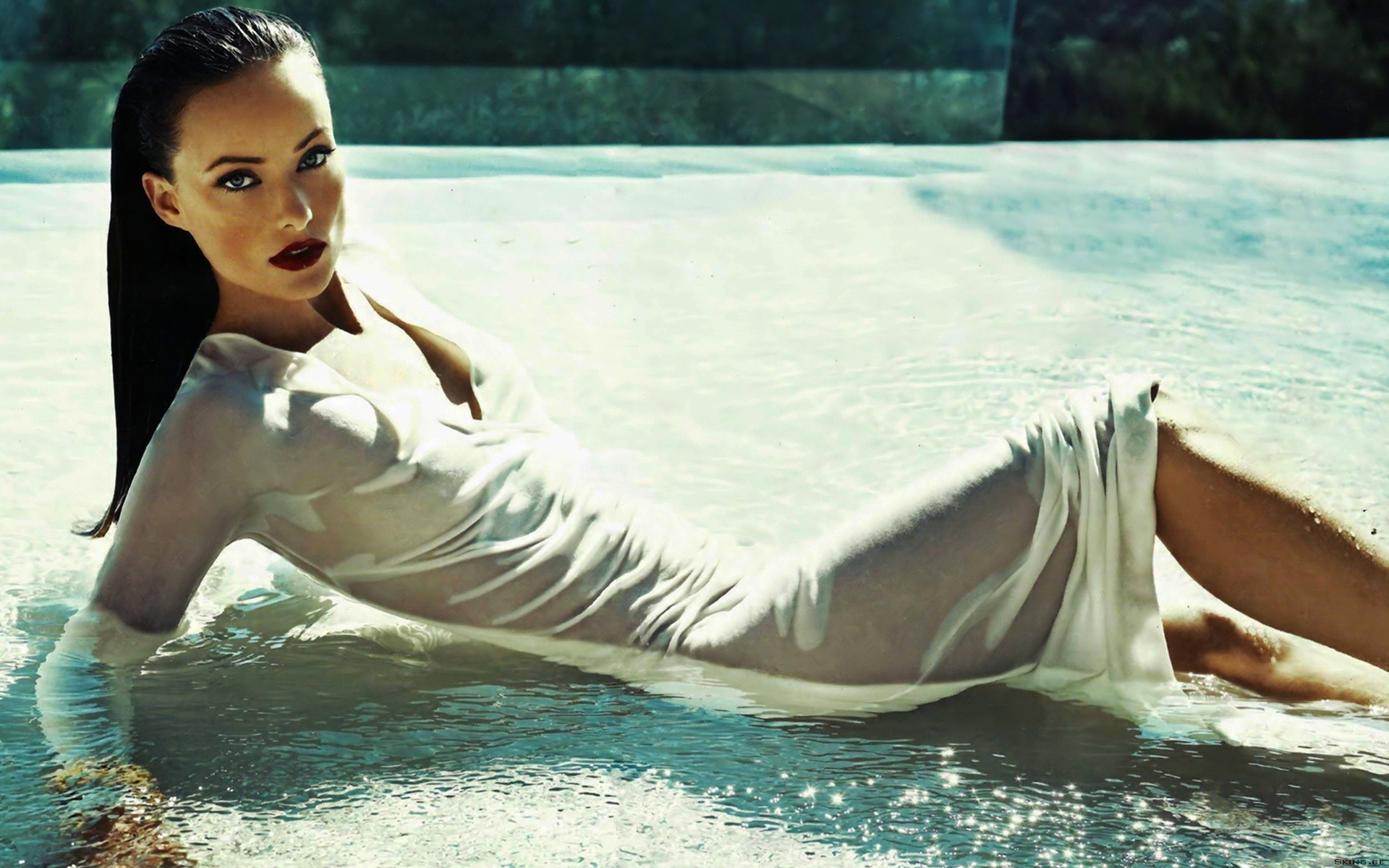 Olivia Wilde wet lips HD Wallpaper