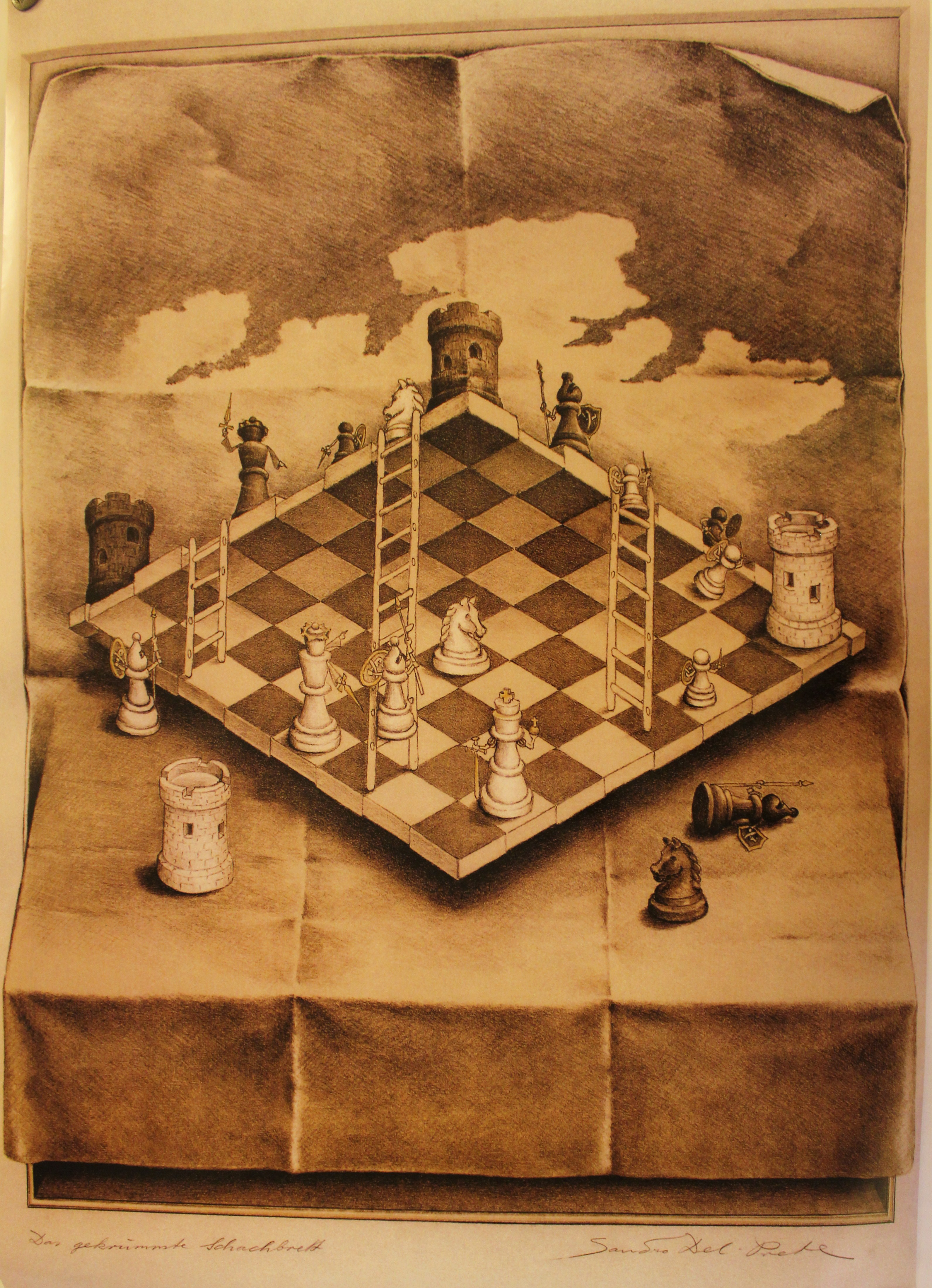 optical illusions chess board HD Wallpaper