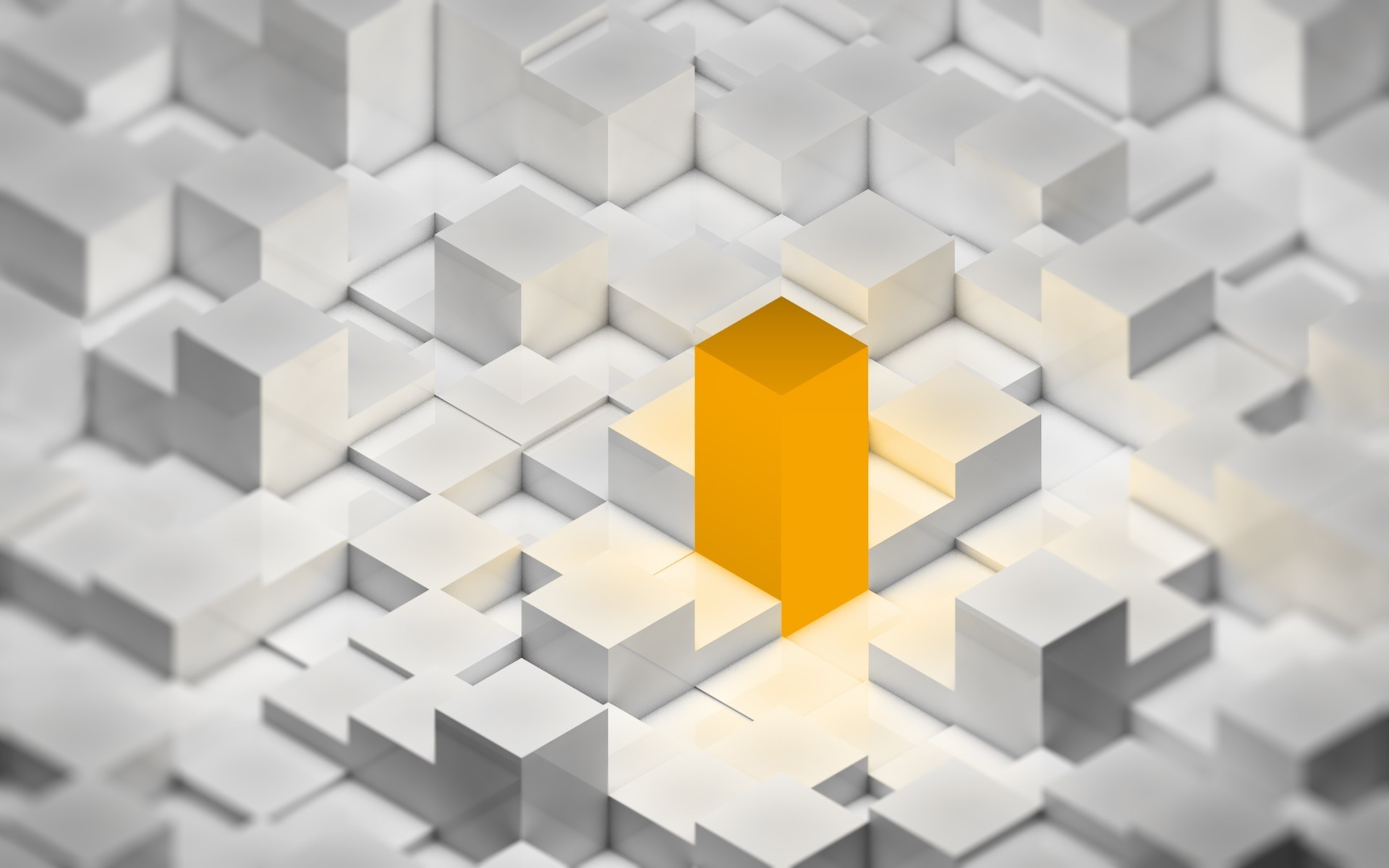 orange cubes HD Wallpaper