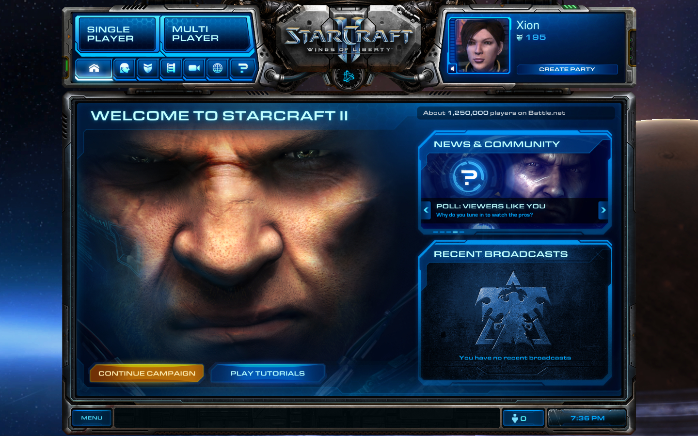 out game Starcraft 2