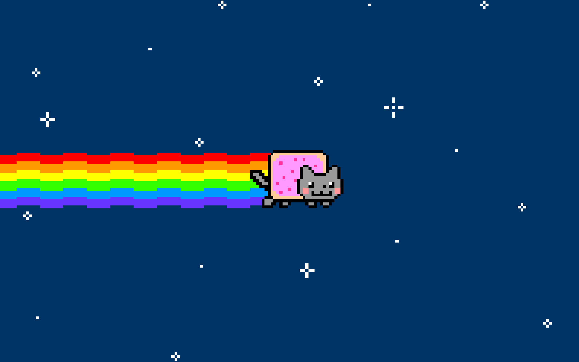outer Space cats rainbows