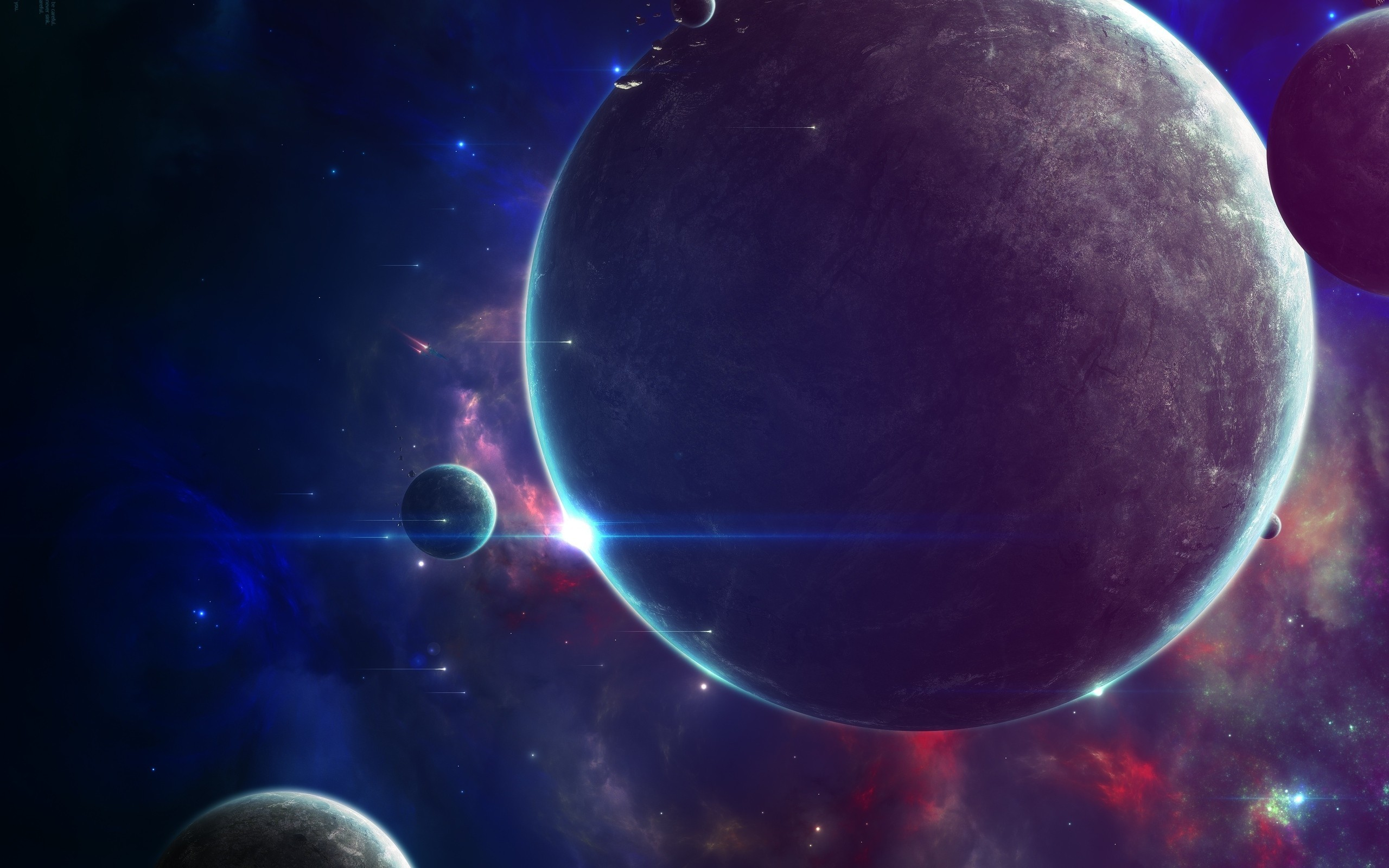 outer space futuristic planets HD Wallpaper