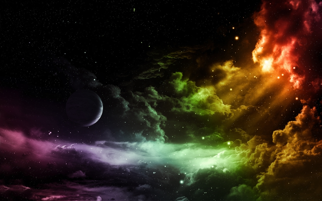 outer space galaxies digital HD Wallpaper