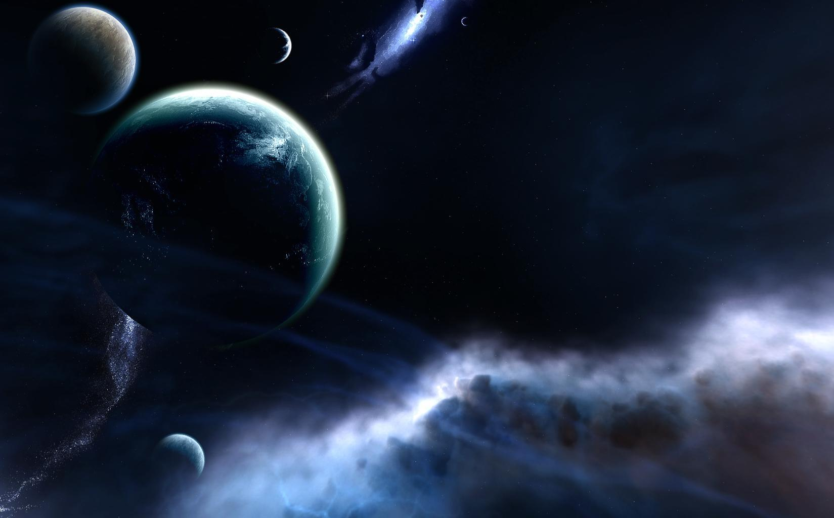 outer Space galaxies planets HD Wallpaper