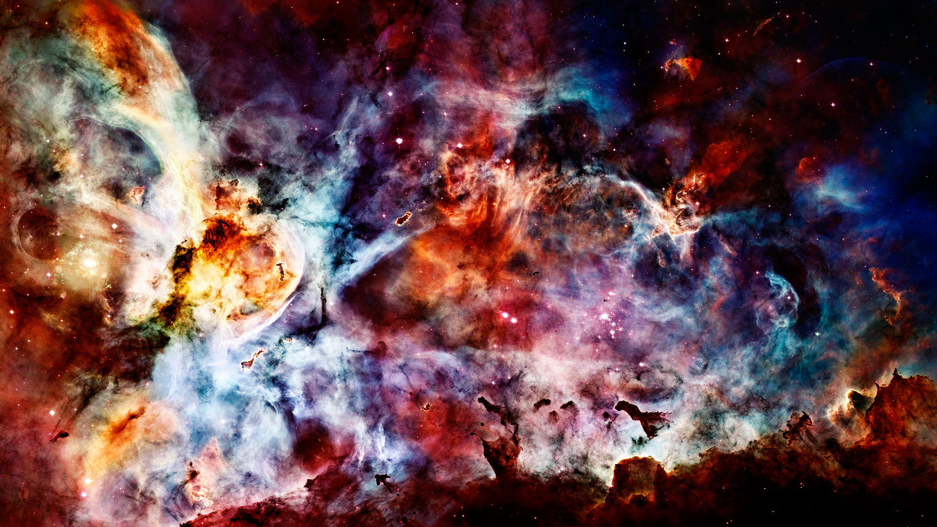 outer space nebulae Carina HD Wallpaper