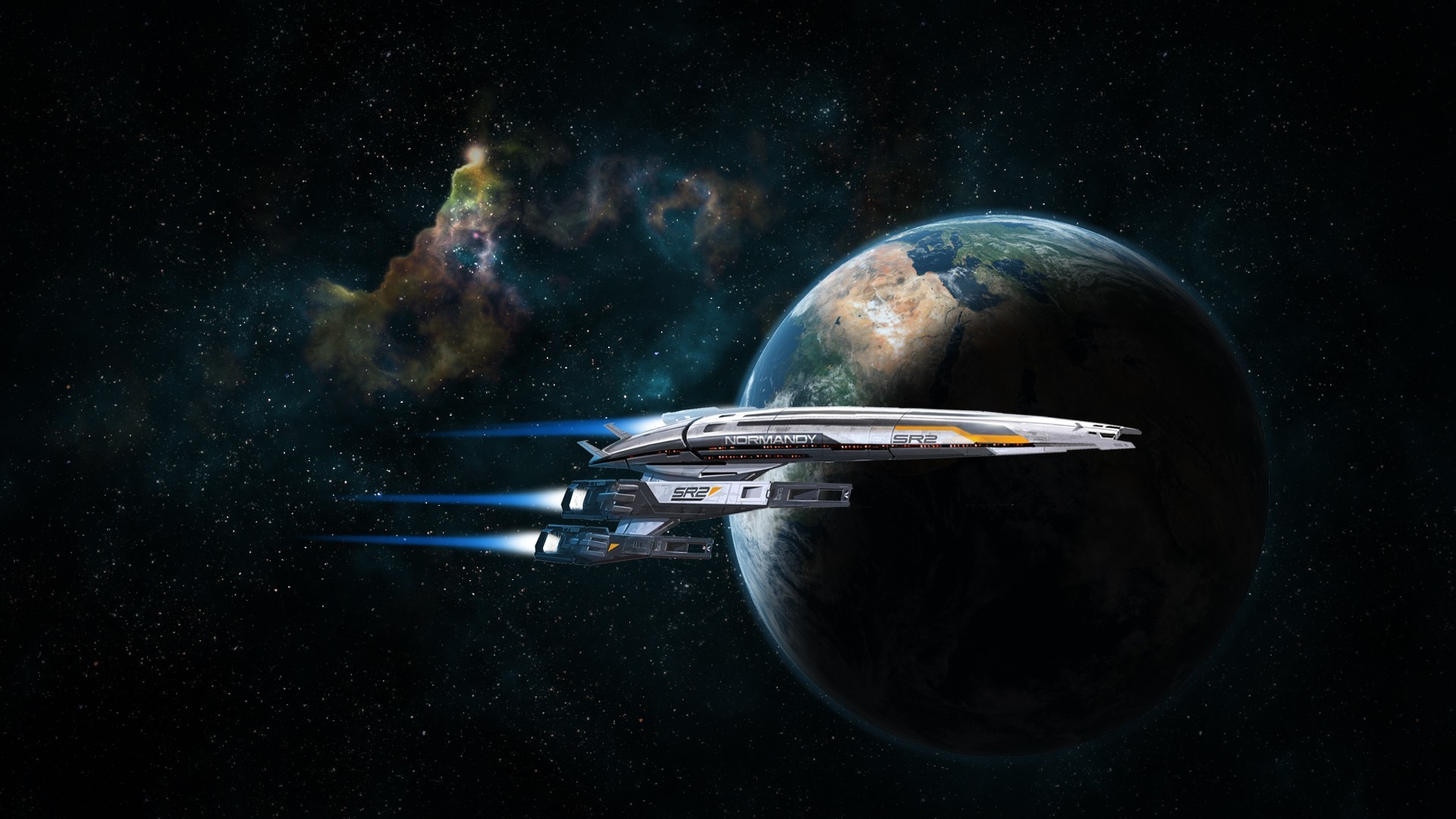 outer space normandy planets HD Wallpaper