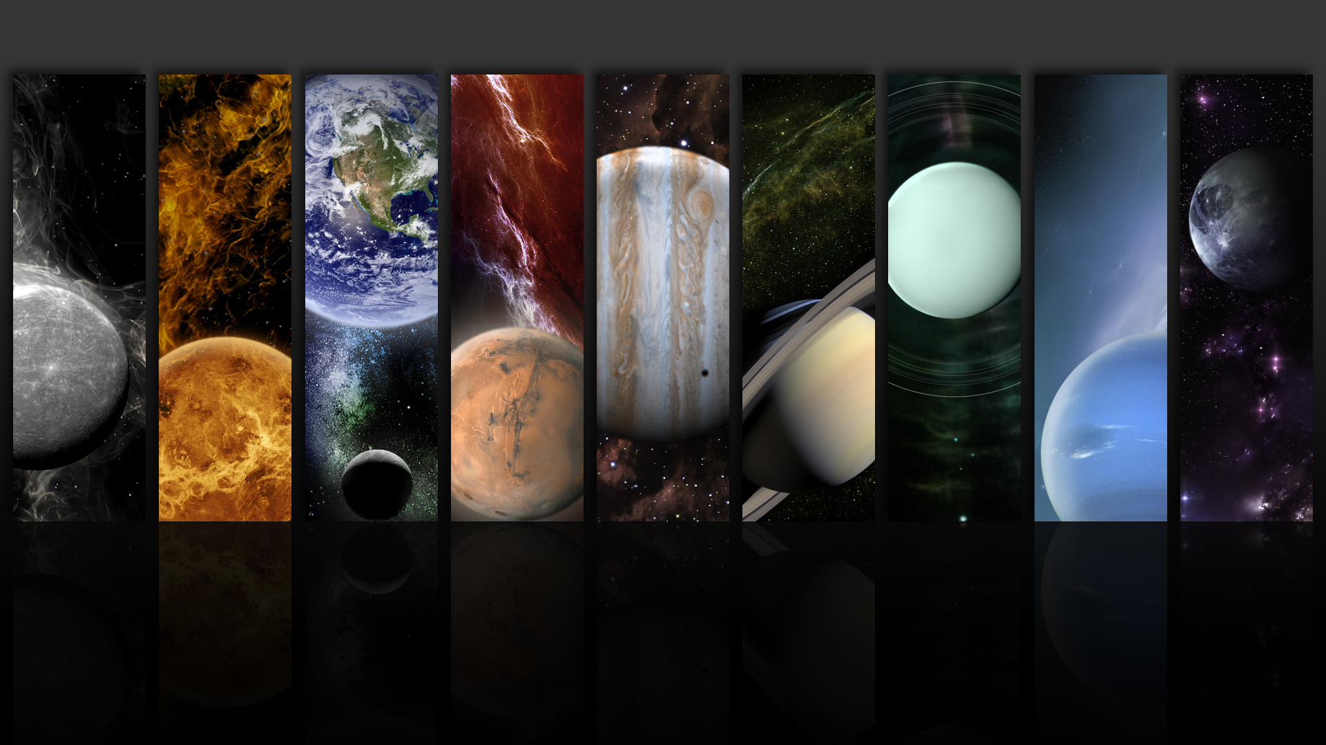 outer space planets collage HD Wallpaper