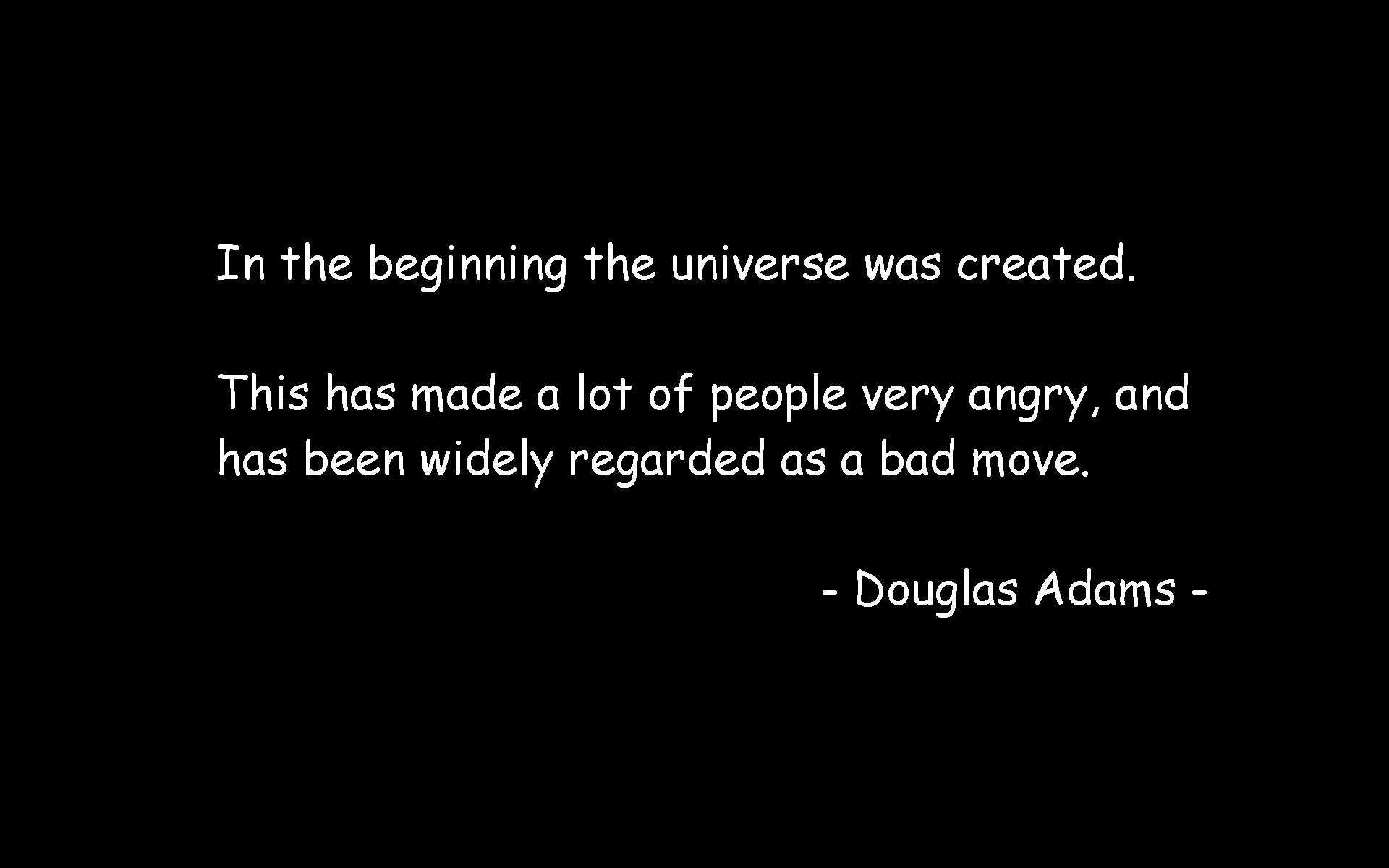 outer space Quotes Douglas HD Wallpaper