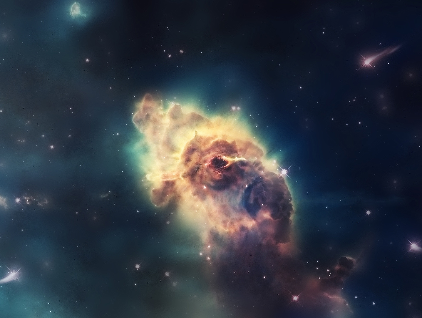 outer space Stars nebulae HD Wallpaper