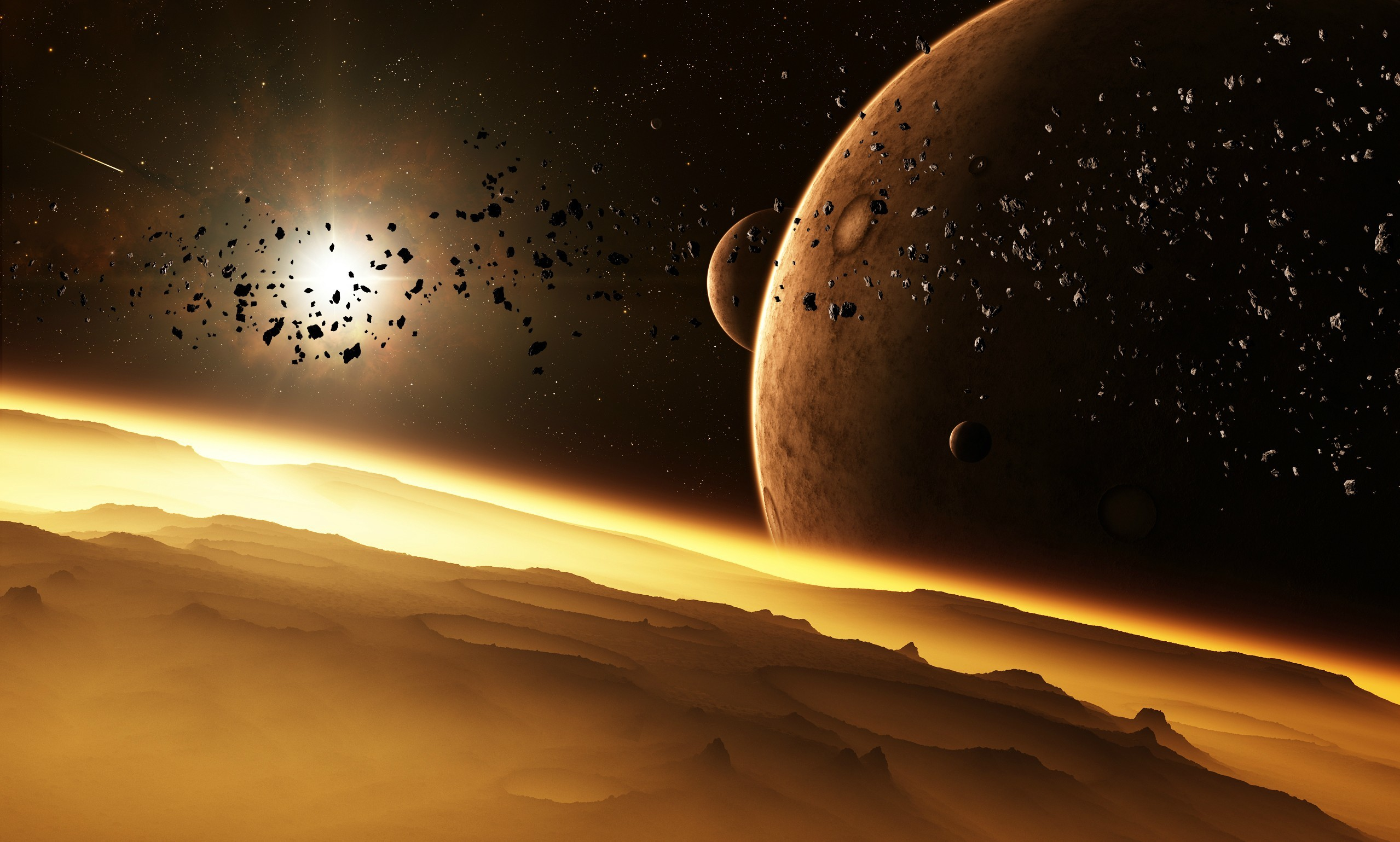 outer space Stars planets HD Wallpaper