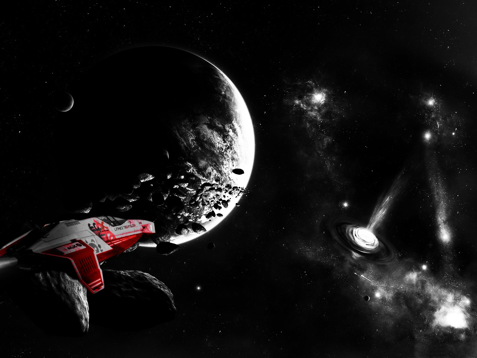 outer space Wipeout HD Wallpaper
