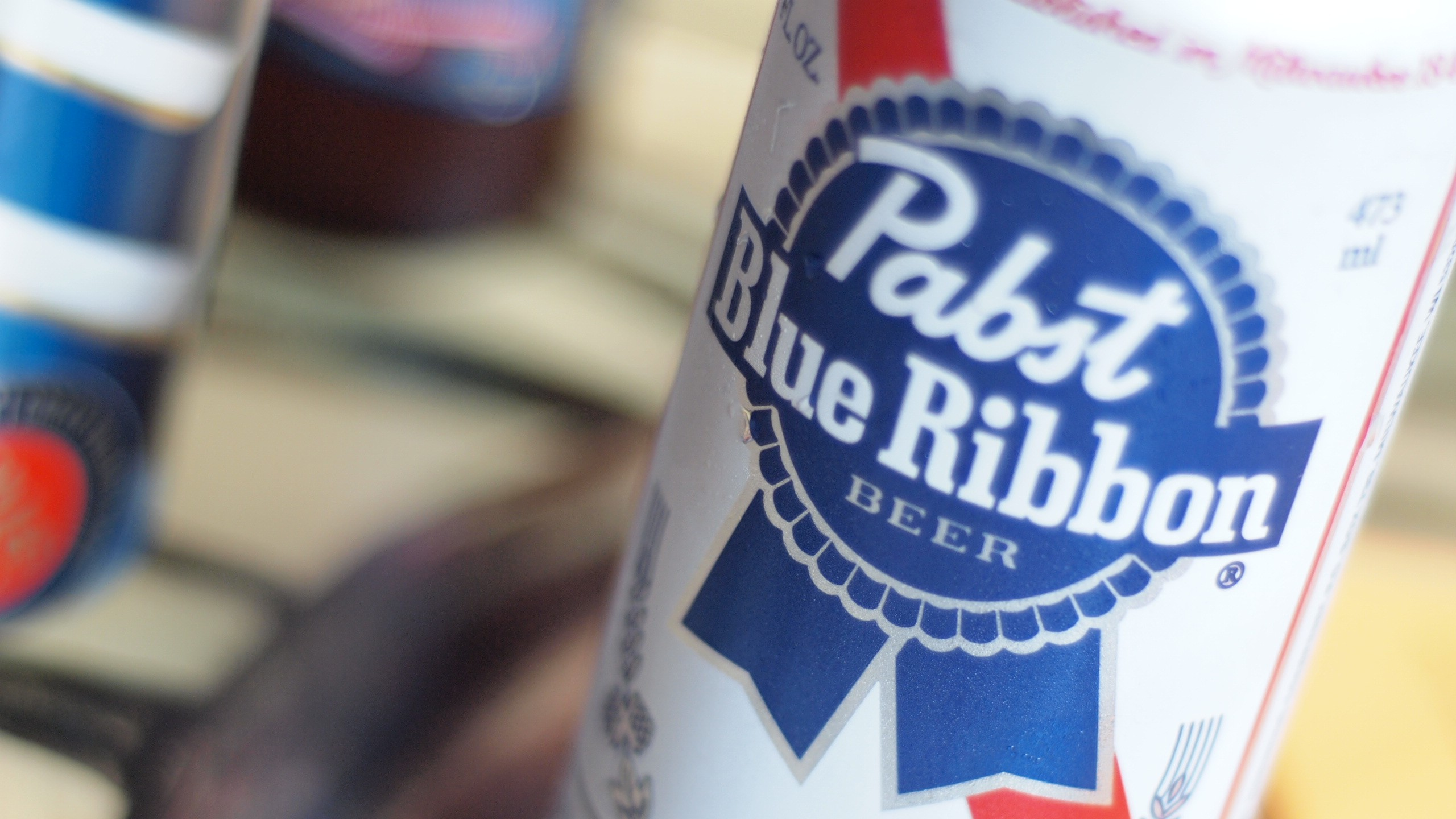 Pabst Blue Ribbon logos HD Wallpaper