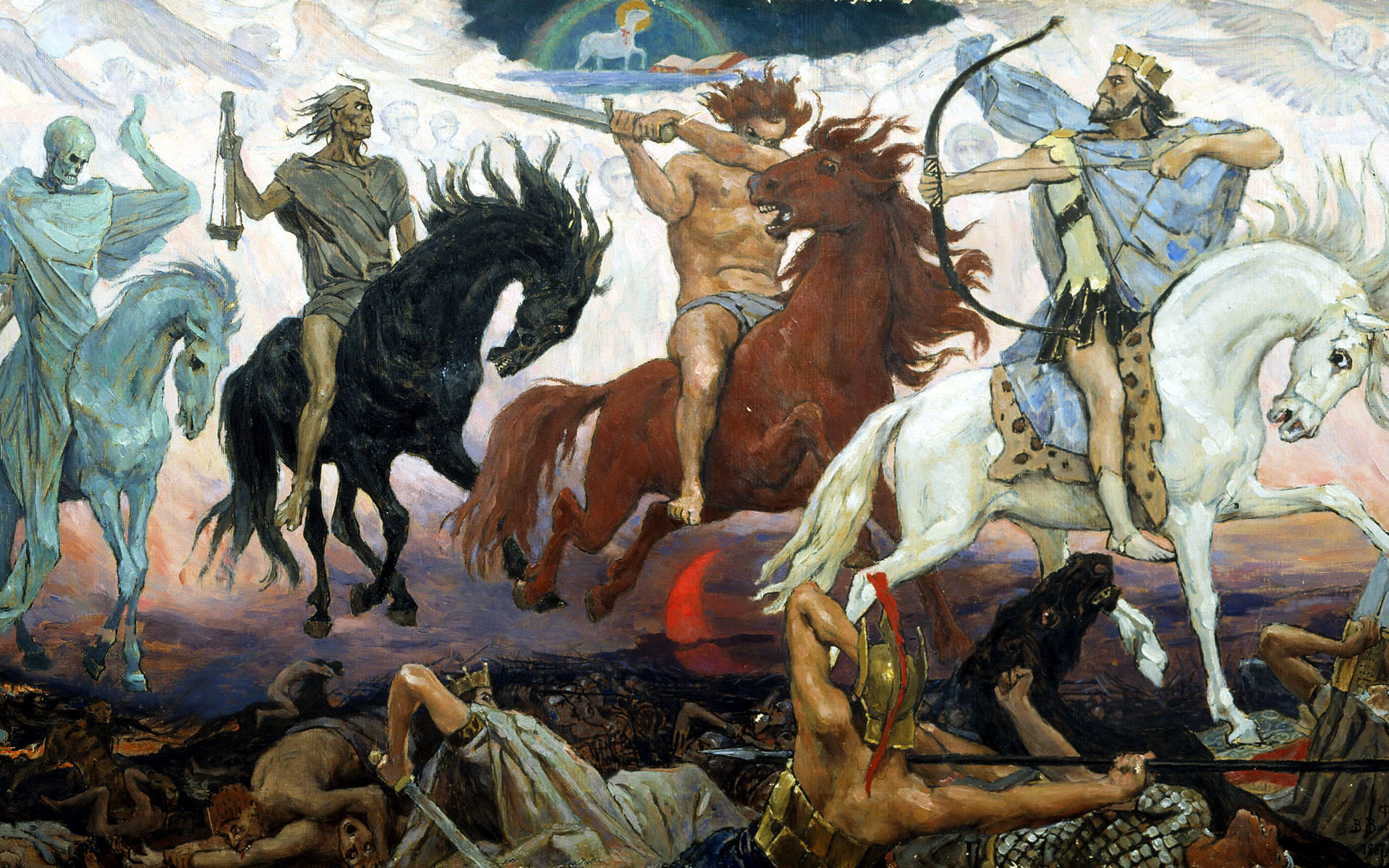 paintings Apocalypse Horses Viktor HD Wallpaper