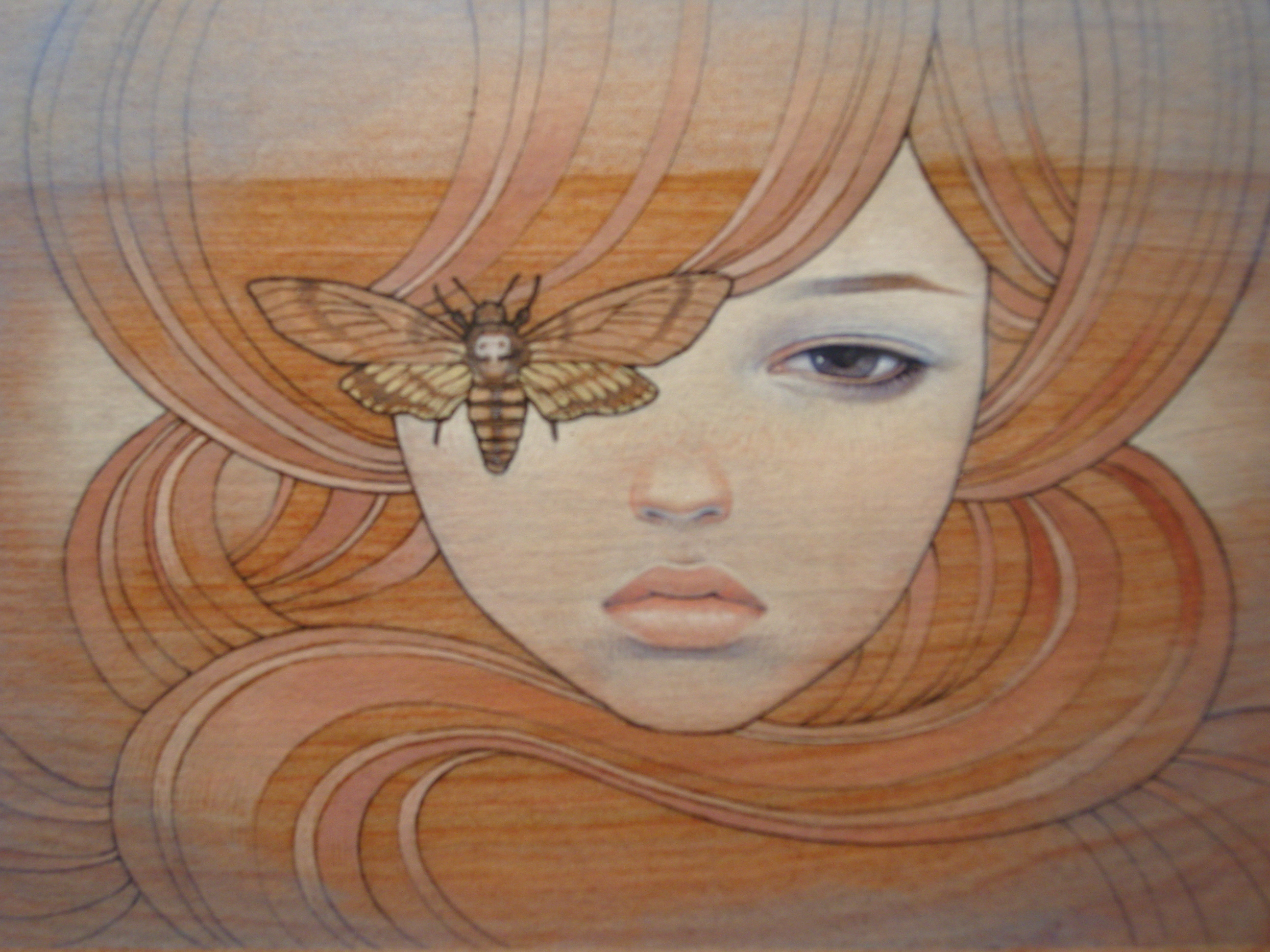 paintings Audrey Kawasaki HD Wallpaper