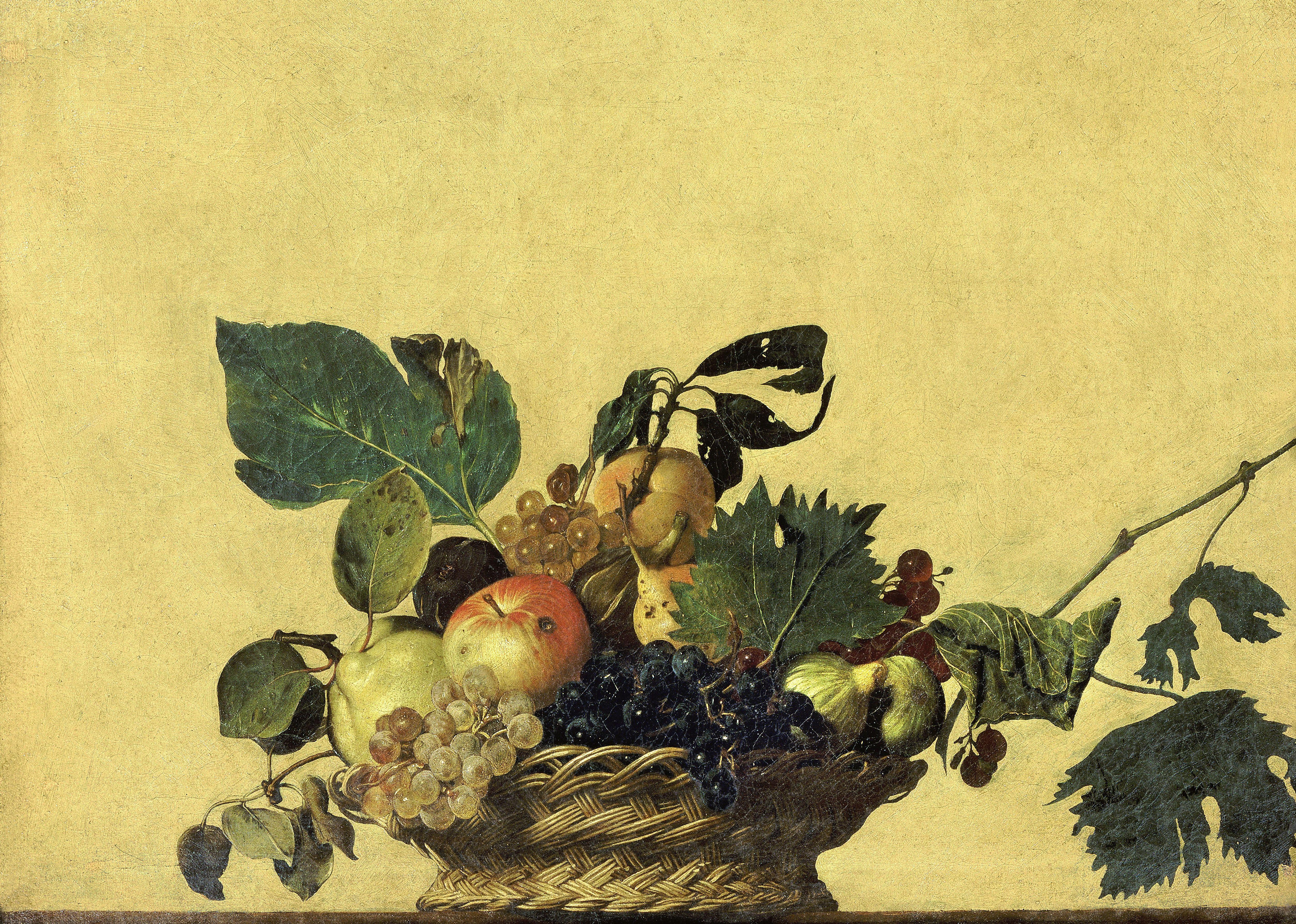 paintings fruits Caravaggio HD Wallpaper
