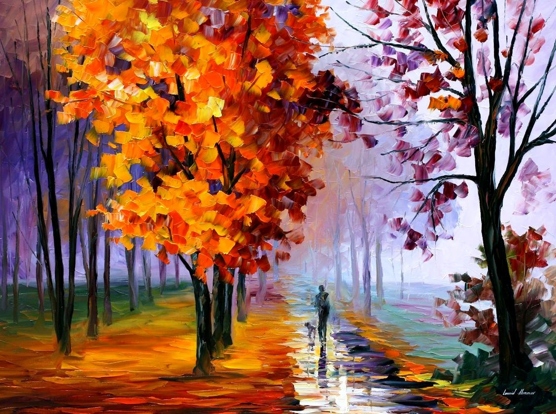 paintings Leonid Afremov HD Wallpaper