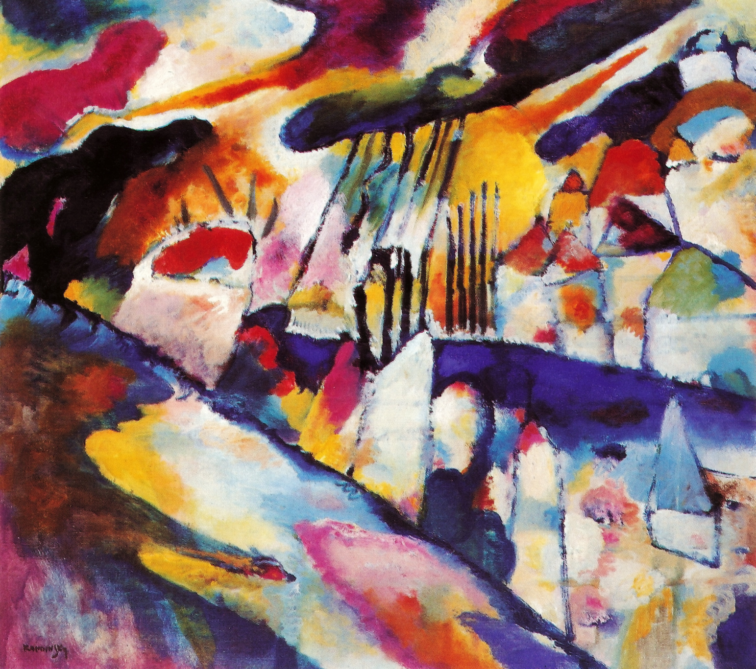 paintings multicolor wassily kandinsky HD Wallpaper