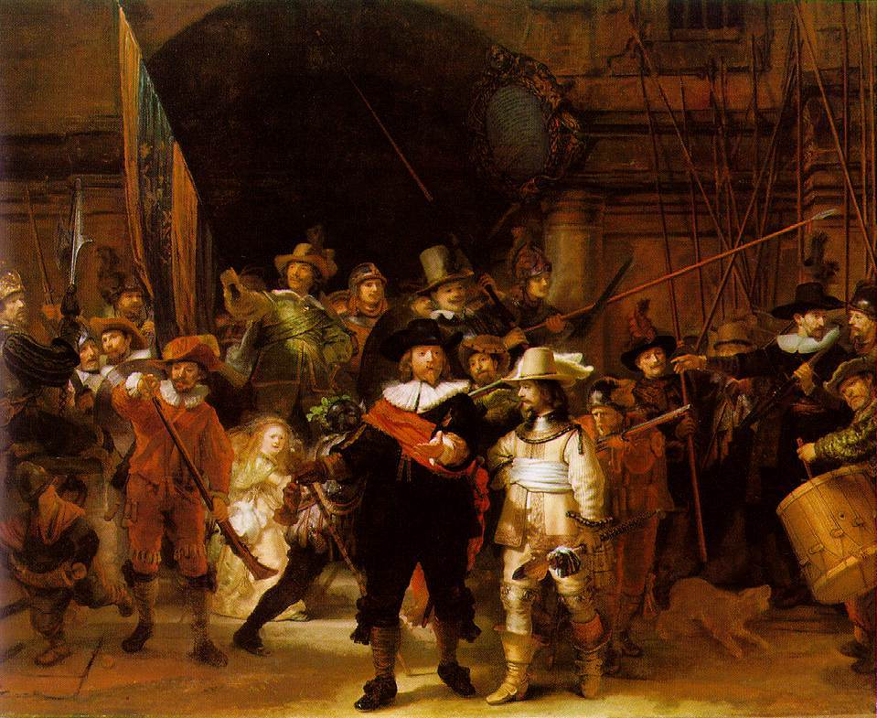 paintings Night watch rembrandt HD Wallpaper