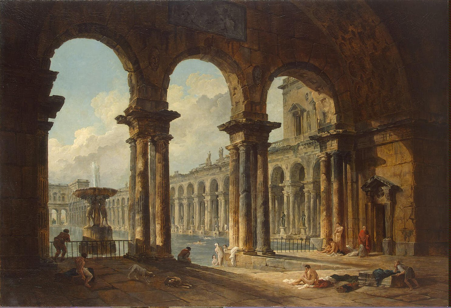 paintings palace Hubert Robert HD Wallpaper