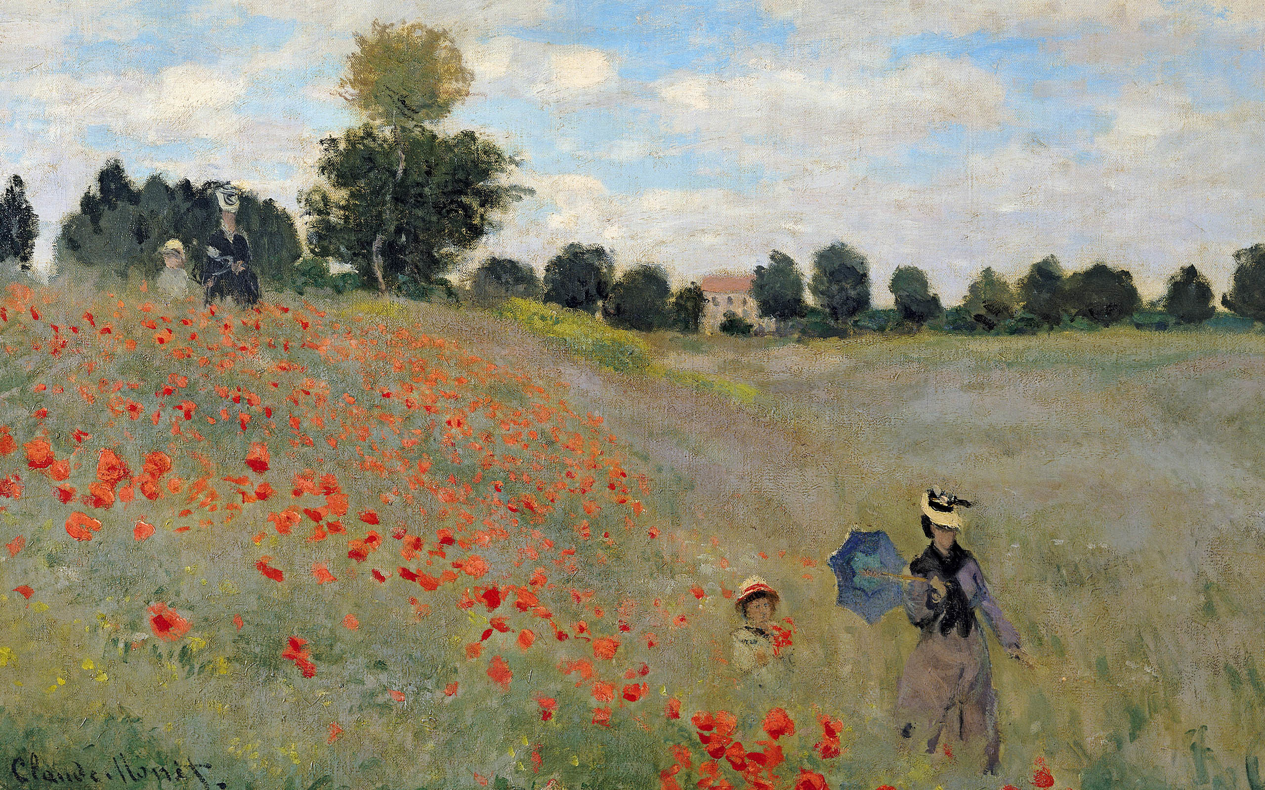 paintings poppy Claude Monet HD Wallpaper