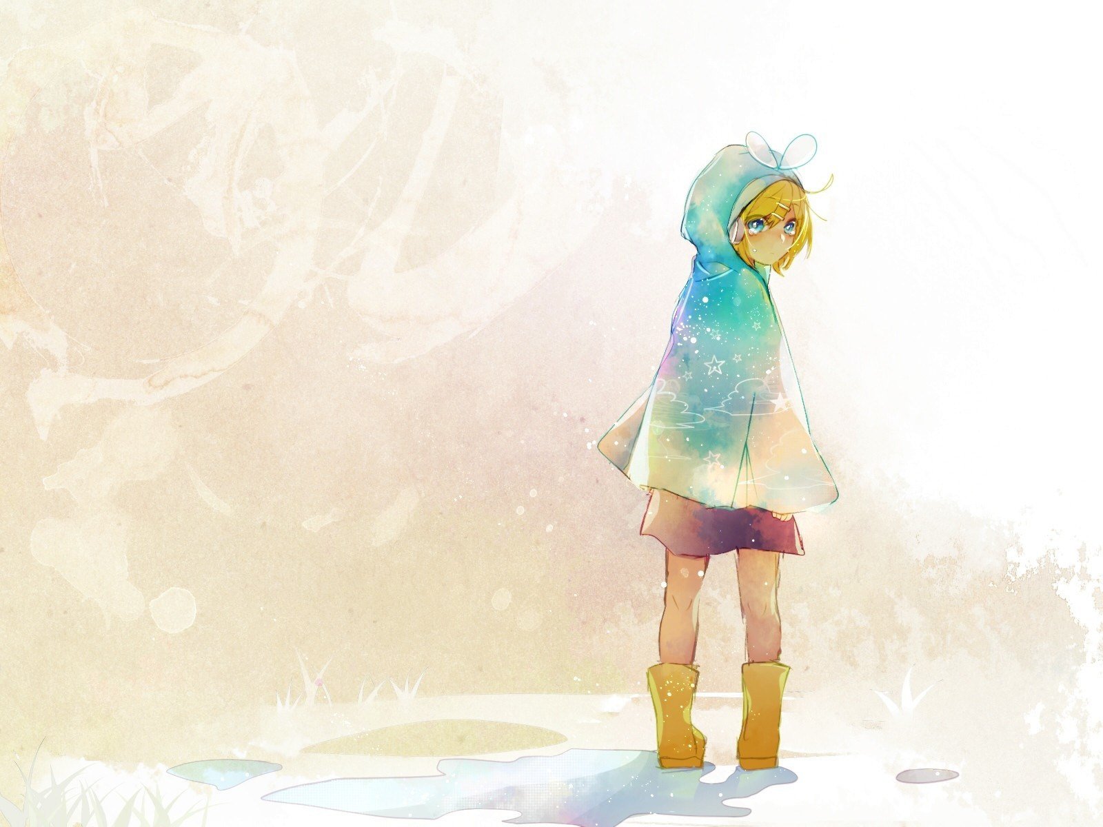 paintings vocaloid kagamine rin HD Wallpaper