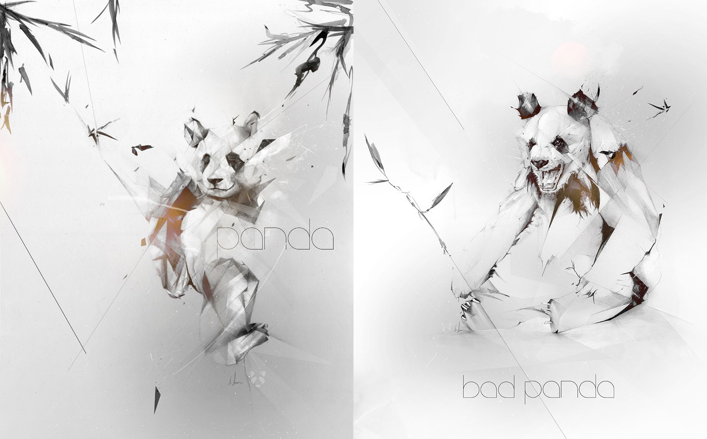 panda bears artwork Alexis HD Wallpaper
