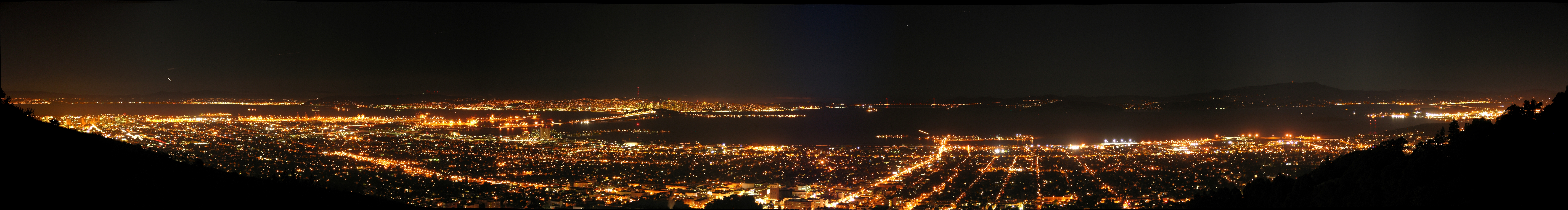 pano san Francisco bay HD Wallpaper