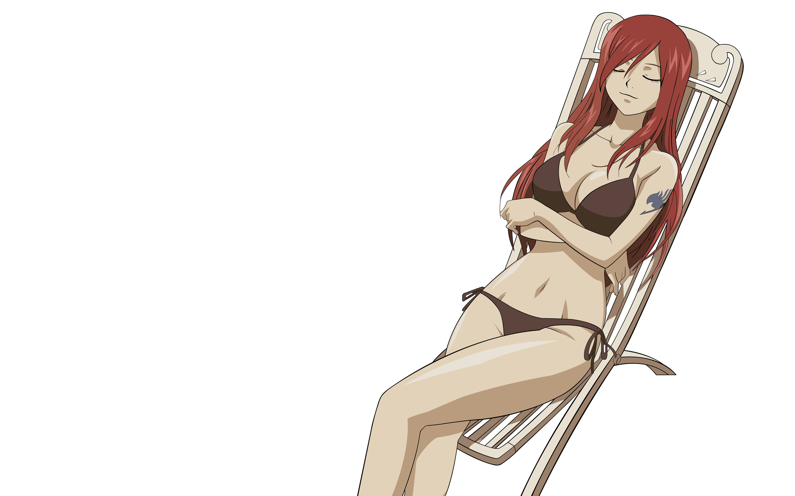panties redheads bra long HD Wallpaper