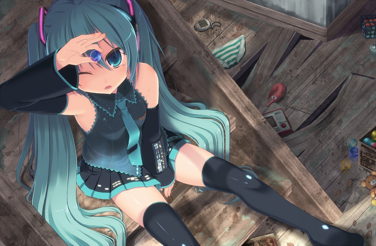 panties vocaloid hatsune miku HD Wallpaper