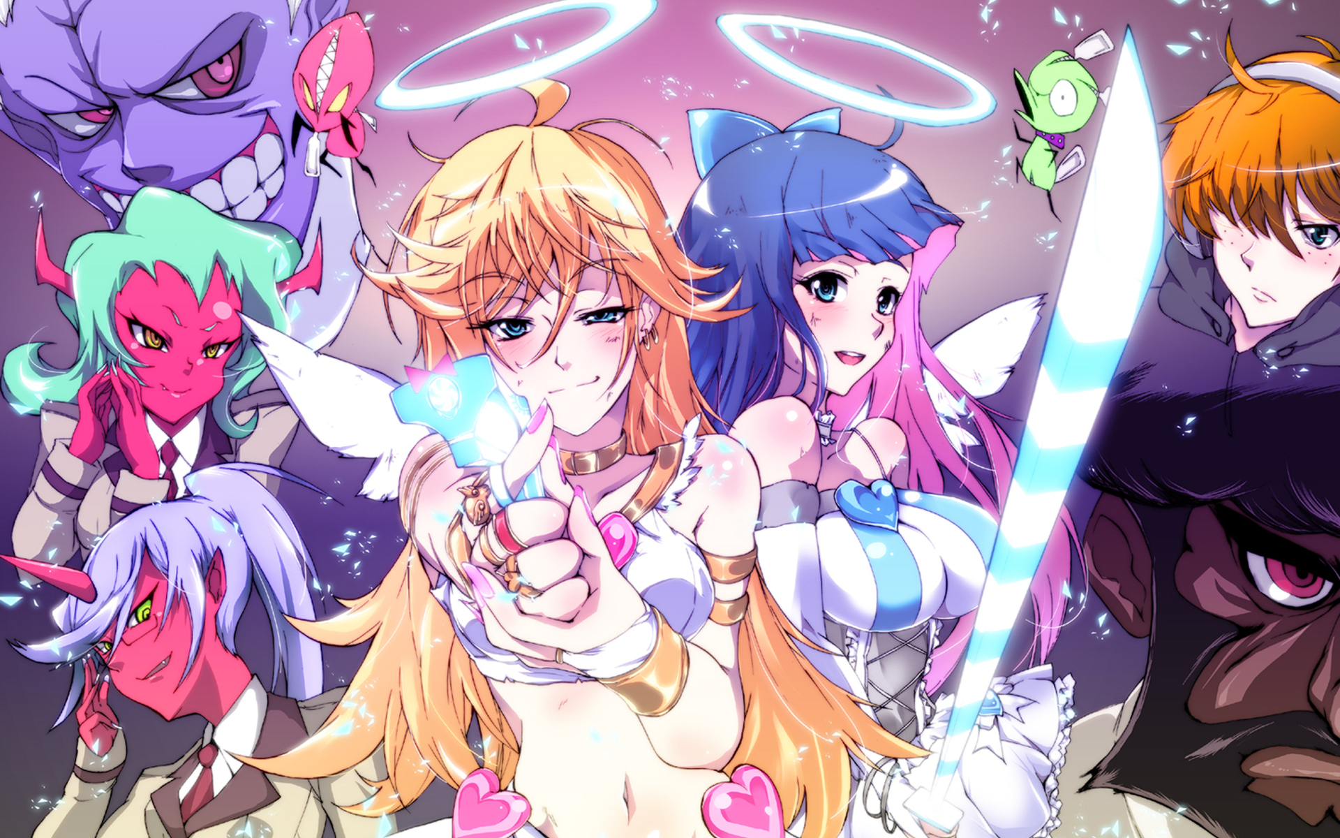 panty and stocking )