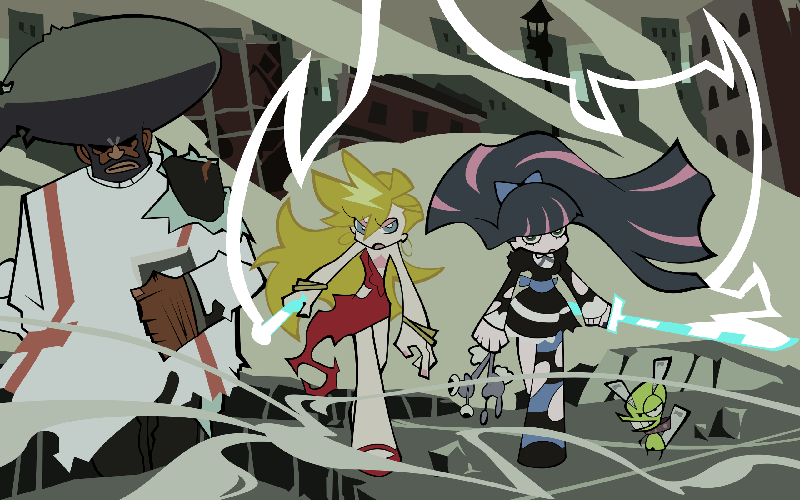 panty and stocking ) HD Wallpaper