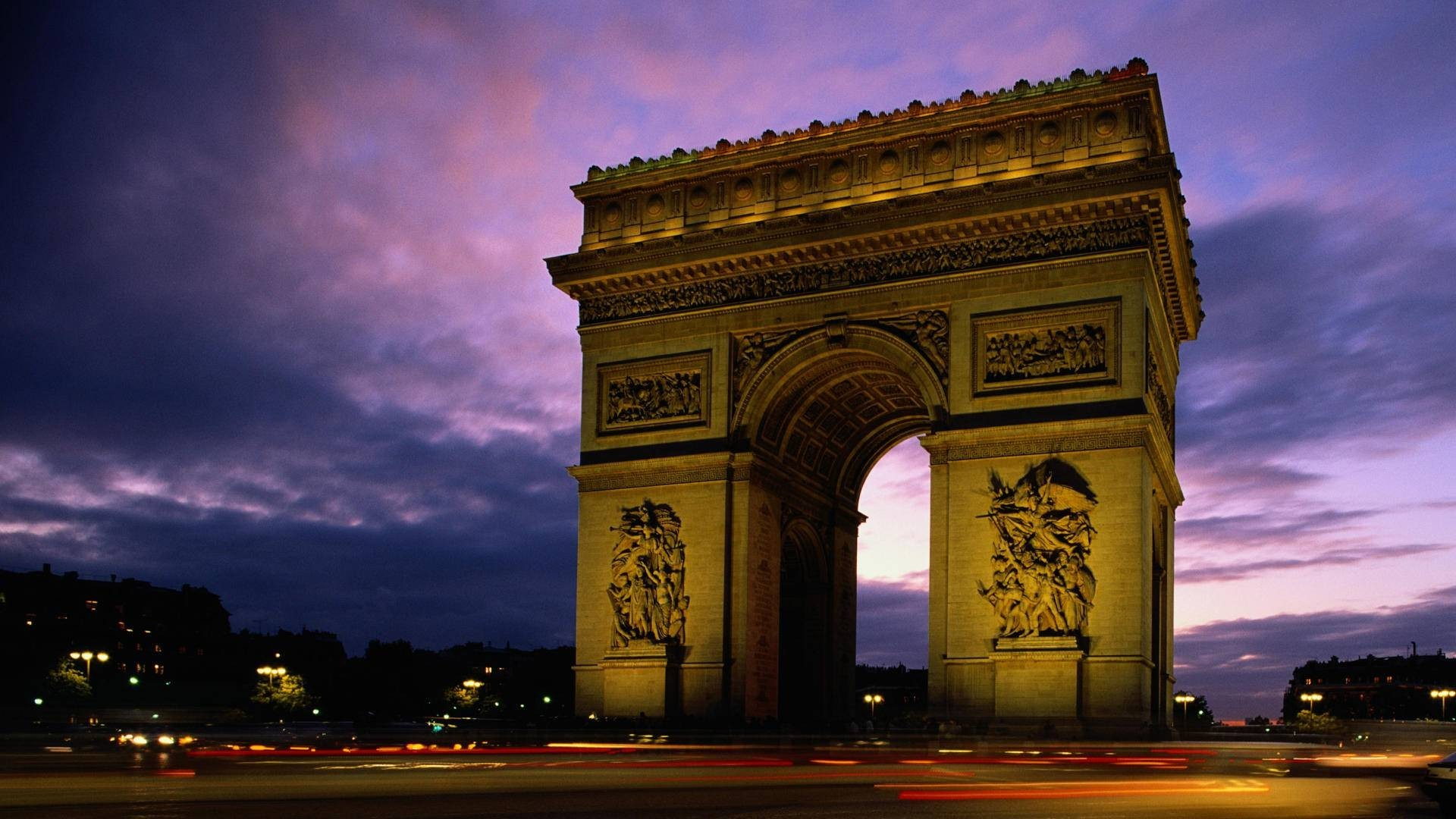 Paris architecture France arc HD Wallpaper